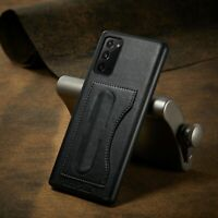 For Samsung Galaxy Note 20 Ultra Luxury Slim Leather Cover Slim Stand Card Case