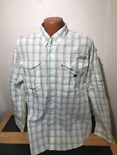 Mens Columbia PFG Super Bonehead L/S Button Front Shirt Size Large (L) Plaid