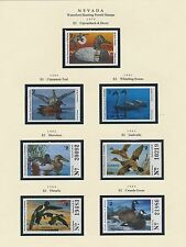 NEVADA HUNTING PERMIT STAMPS 1979-1999 CV $280 BS6396