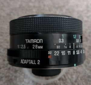 Tamron Adaptall 2 *FAST* Wide Angle Lens, 28mm F2.5, Model 02B, Optically clear