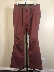 L1 Premium Goods Maroon Red Skinny Fit Stretch Snowboard Snow Pants Sz L 34x34