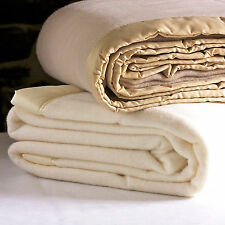 Solid Patterned 100% Wool Bed Blankets