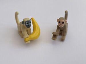 Lego City Wildlife Safari New Monkeys Tan & Dark Tan 2021