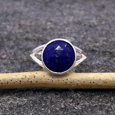 Lapis Lazuli Rose Cut Gemstone Ring 925 Sterling Silver Jewelry in All Sizes