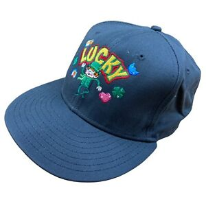 New Era Lucky Charms Embroidered Baseball Cap Hat Grey Vintage 9FIFTY