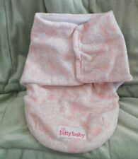 American Girl Bitty Baby Soft Pink Swaddle Sack Blanket Retired Rare Gu