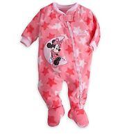 Disney Store Minnie Mouse Baby 1pc Soft Pajamas PJs Size 9-12 12-18 18-24 Months