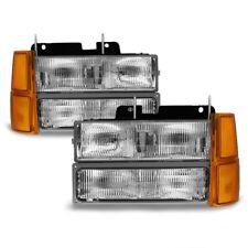 Chevy 94-98 C/K Tahoe Suburban Truck Replacement Headlight Bumper Corner Set