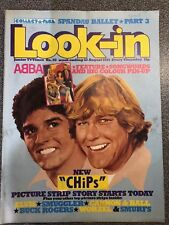 LOOK-IN COMIC 35 22/08/1981 CHIPS ELVIS SMURFS BUCK ROGERS ABBA HIGHLAND GAMES