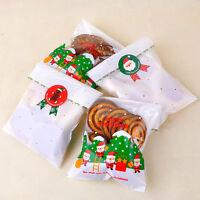 24X Set Sealing Christmas Tree Santa Claus Snowman Biscuit Bag Cake Box Stickers