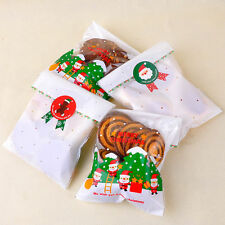 24X Set Sealing Christmas Tree Santa Claus Snowman Biscuit Bag Cake Box Stickers