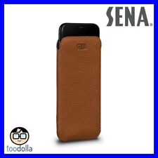 SENA Ultraslim thin genuine leather handcrafted Case/Pouch for iPhone XR, Tan