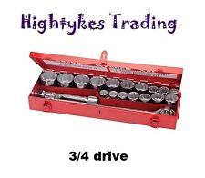 Juego De Tubos 3/4 ″ 19-50mm Disco métricas 21pce Tuerca Socket Heavy Duty 633663