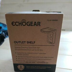 Outlet Shelf ECHOGEAR Made For Small Electronics Echo Dot Devices White New OB