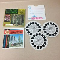 Vintage View-Master 3-Reel Set The Plant Kingdom Botany Complete Booklet A136