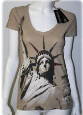 Rinascimento T-Shirt Strass  beige S 34-36 Made in Italy