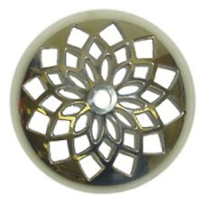 """Polished Vented Cast Brass 5"""" Heat Cap for Stained Glass Lampshades and Repair"""