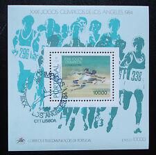 Portugal 1984: Block 45, Olympische Sommerspiele, Ersttags- Sonderstempel! TOP!