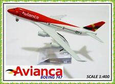 16CM BOEING 747 JUMBO AVIANCA COLOMBIA AIRLINE AEROPLANE METAL PLANE MODEL TOYS