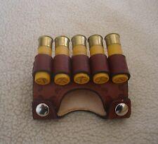 SASS leather 20 Ga 5 loop shotgun cartridge snap on belt(20 days to get it done