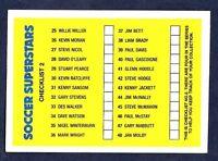 PANINI SOCCER SUPERSTARS 1988-#098-CHECKLIST 2-UNMARKED