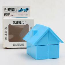 YongJun House Shape Irregular Magic Cube Twist Puzzle Intelligence Toys Blue