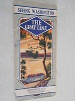 Seeing Washington The Gray Line 1930 Washington DC tour Brochure