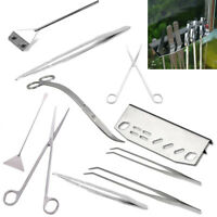 1Pcs Aquarium Tweezers Maintenance Scissors Tools Kit For Live Plants Grass