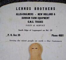1950s ALLIS-CHALMERS Dealership Hand FAN...Logansport, Indiana