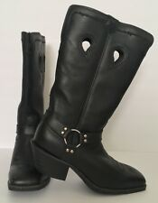 Twisted X Black Harness Boots USA Womens 9B Ruff Stock NIB Harley Cowgirl Biker