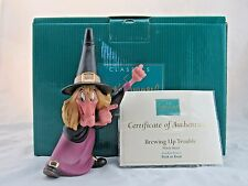 "WDCC ""Brewing Up Trouble"" Witch Hazel from Disney's Trick or Treat in Box COA"