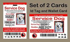 USA Service Dog ID Card and Wallet Set, ADA Service Dog Card and ID Tag