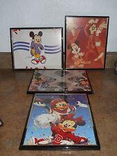 Vintage Mickey Mouse Framed Prints - Set of 4