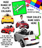 Personalised kids Number Plate for KID MOTORZ 6V Audi TT RS ride-on toy car REAR