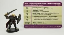 D&D Mini  DEATH KNIGHT (DRAGONBORN PALADIN)  #10 (Savage Encounters - and RARE!)