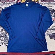 Men's Vintage 80's Patagonia Capilene Blue Long Sleeve Shirt Sz Large Vtg Retro
