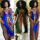 Fashion Women's African Print Dashiki Dress Cultural Ethnic Evening Party Dress