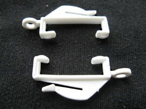 Decorail White Curtain Hooks Rail Track Glider Runners Loop Monorail Free Post