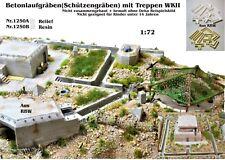Neu für Diorama Nr.1250A Betonlaufgräben(Schützengräben) mit Treppe WKII 1:72