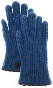 Loro Piana Gloves Maglia Inglese Cashmere Size 3XLarge Blue 04GL0104 $575