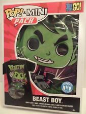 Funko Pop & Mini Pack Teen Titans Go! Beast Boy Medium T-shirt & Pocket Pop NEW