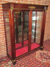 R J Horner French Empire Display Cabinet-Best Ormolu Mountings