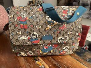 Original GUCCI Wickeltasche +Wickelauflage €1.190,- GG Supreme Canvas Diaper Bag
