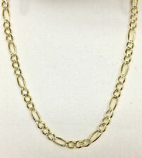 """Italian Yellow Gold 2.6 mm Solid 16"""" Figaro Necklace 3.7 grams """"Brand New"""""""