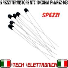 5 pezzi sensore di temperatura 10k ohm ntc MF52-103 termistore resistenza 1%
