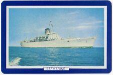 Playing Cards 1 Single Swap Card - Vintage Advertising SAFMARINE Shipping Ship