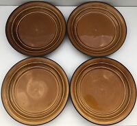 """Set (4) Home Trends Country Crock Amber 11"""" Dinner Plates"""
