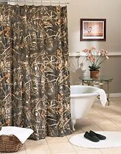 Realtree Max 4 Camo Shower Curtain - Cabin Camouflage Rustic Hunting Bathroom