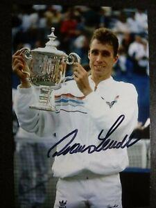 IVAN LENDL Authentic Hand Signed Autograph 4X6 Photo - TENNIS LEGEND