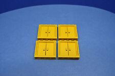 LEGO 4 x porte gialle 6556 6546 4564 4549 9 VOLT FERROVIE | Yellow Train door